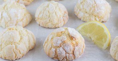 Biscuits Craquelés au Citron et au Yaourt au Thermomix